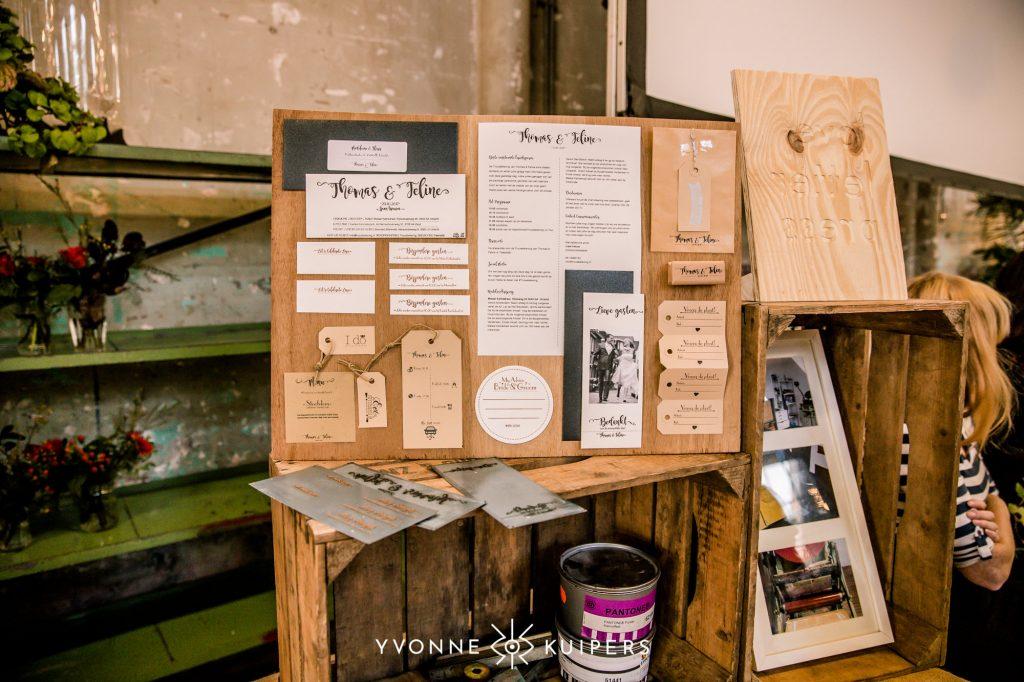 Trouwkaarten letterpress Trouwevent trouwbeleving on tour Utrecht