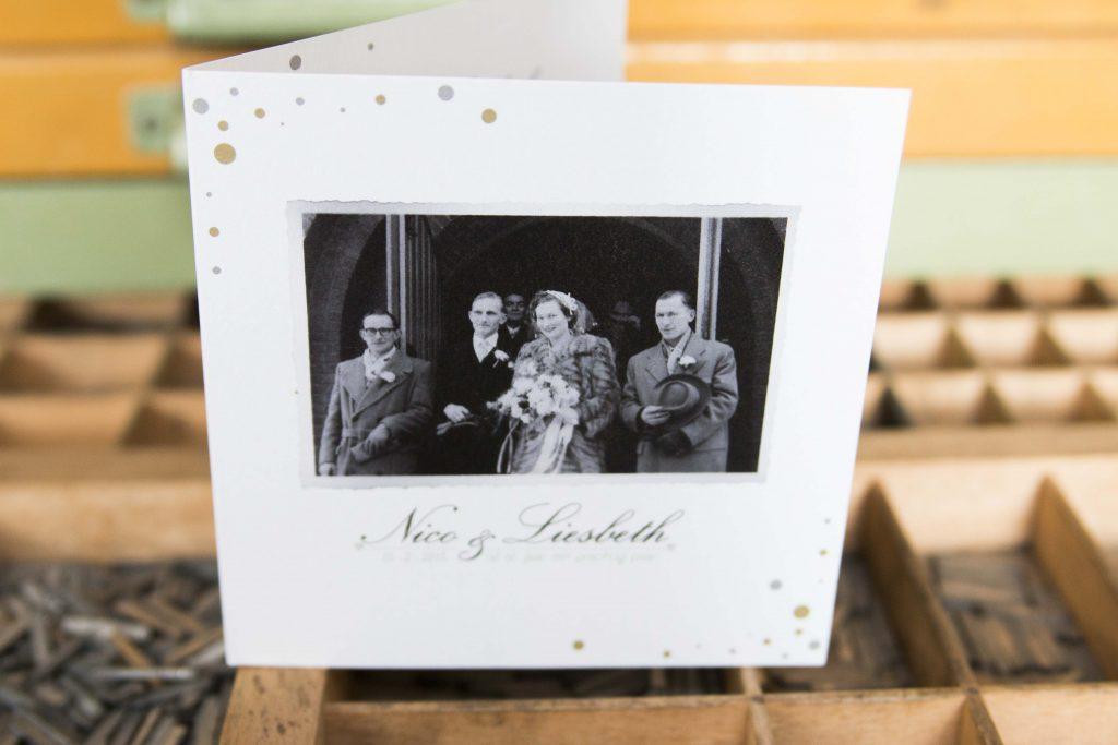 Diamanten huwelijk trouwkaart 60 jaar