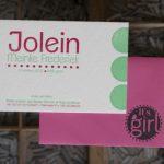 geboortekaartje letterpress zusje geboren Its a girl stempel