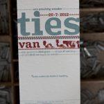 Geboortekaartje letterrpress vintage lettertype stoerpetrol blauw rood